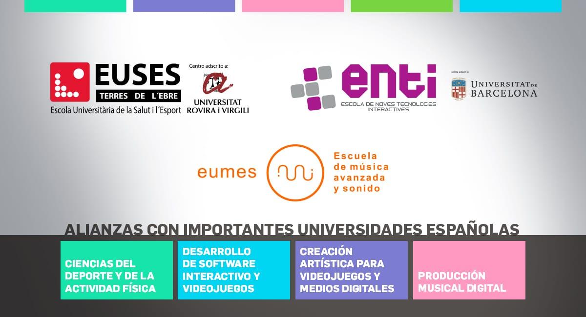 Alianzas Con Importantes Universidades Españolas
