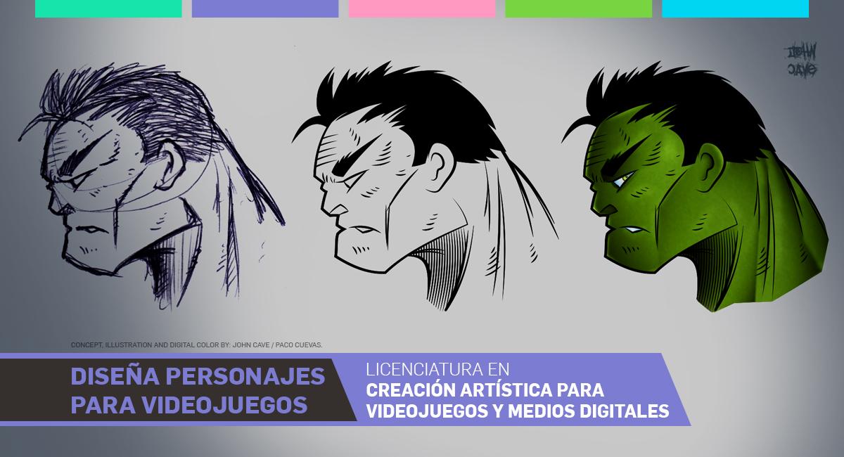 Diseña Personajes Para Videojuegos